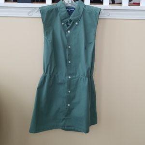 Ralph Lauren Greggor Green Strapless Dress